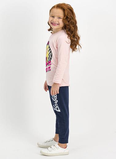 Barbie Kız Çocuk  Lisanslı Karmelanj Pijama Takım L1065-C Pembe